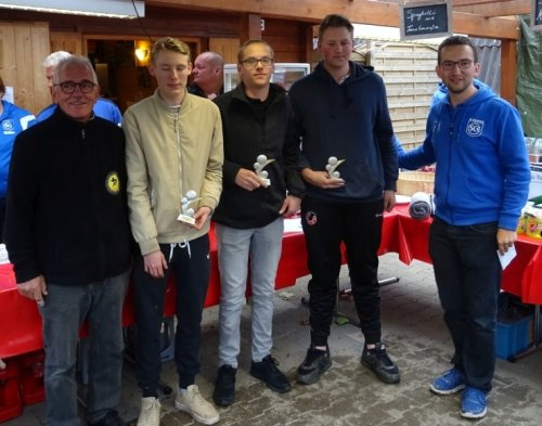 Tireur Juniors: David Rosa, Philipp Embach und Paul Bonifer
