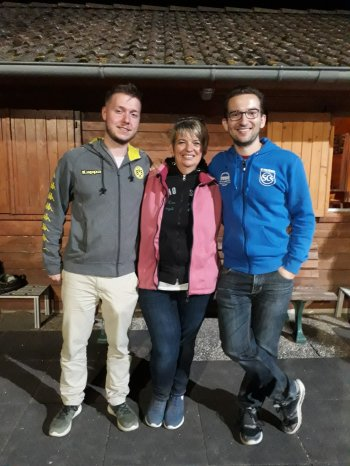 Vereinsmeister Triplette 2018 (v.l.): Pascal Lauer, Silvia und Patrick Fahner